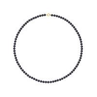 Collier Rang - Perles Rondes 4-5 mm - Qualité AA - Anneau Ressort Or 750 Millièmes