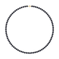 Collier Rang - Perles Rondes 5-6 mm - Qualité AA - Anneau Ressort Or 750 Millièmes