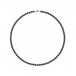 Collier Rang - Perles Rondes 4-5 mm - Qualité AA - Mousqueton Or 750 Millièmes