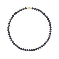 Collier Rang - Perles Rondes 6-7 mm - Qualité AA - Mousqueton Or 750 Millièmes
