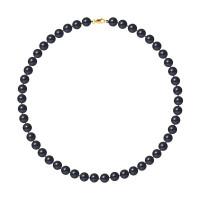 Collier Rang - Perles Rondes 8-9 mm - Qualité AA - Mousqueton Or 750 Millièmes