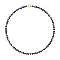 Collier Rang - Perles Rondes 5-6 mm - Qualité AA - Fermoir Anneau Marin PM Or 750 Millièmes