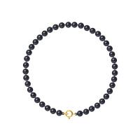 Bracelet Rang - Perles Rondes 4-5 mm - Qualité AA - Anneau Ressort Or 750 Millièmes