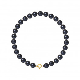 Bracelet Rang - Perles Rondes 6-7 mm - Qualité AA - Anneau Ressort Or 750 Millièmes