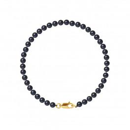 Bracelet Rang - Perles Rondes 4-5 mm - Qualité AA - Mousqueton Or 750 Millièmes