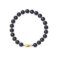 Bracelet Rang - Perles Rondes 7-8 mm - Qualité AA - Mousqueton Or 750 Millièmes