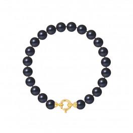 Bracelet Rang - Perles Rondes 7-8 mm - Qualité AA - Fermoir Anneau Marin PM Or 750 Millièmes