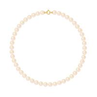 Collier Rang - Perles Rondes 8-9 mm - Qualité AA - Fermoir Anneau Marin PM Or 750 Millièmes