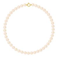 Collier Rang - Perles Rondes 9-10 mm - Qualité AA - Fermoir Anneau Marin MM Or 750 Millièmes