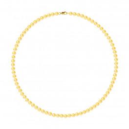 Collier Rang - Perles Rondes 5-6 mm - Qualité AA - Mousqueton Or 750 Millièmes