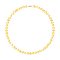 Collier Rang - Perles Rondes 7-8 mm - Qualité AA - Mousqueton Or 750 Millièmes