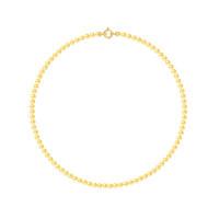 Collier Rang - Perles Rondes 4-5 mm - Qualité AA - Fermoir Anneau Marin PM Or 750 Millièmes