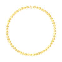 Collier Rang - Perles Rondes 7-8 mm - Qualité AA - Fermoir Anneau Marin PM Or 750 Millièmes