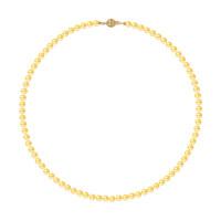 Collier Rang - Perles Rondes 5-6 mm - Qualité AA - Fermoir Boule Striée Or 750 Millièmes
