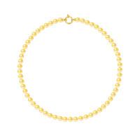 Collier Rang - Perles Rondes 6-7 mm - Qualité AA - Fermoir Anneau Marin MM Or 750 Millièmes