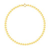 Collier Rang - Perles Rondes 7-8 mm - Qualité AA - Fermoir Anneau Marin MM Or 750 Millièmes
