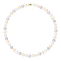 Collier Rang - Perles Rondes 9-1 mm - Qualité AA - Mousqueton Or 750 Millièmes
